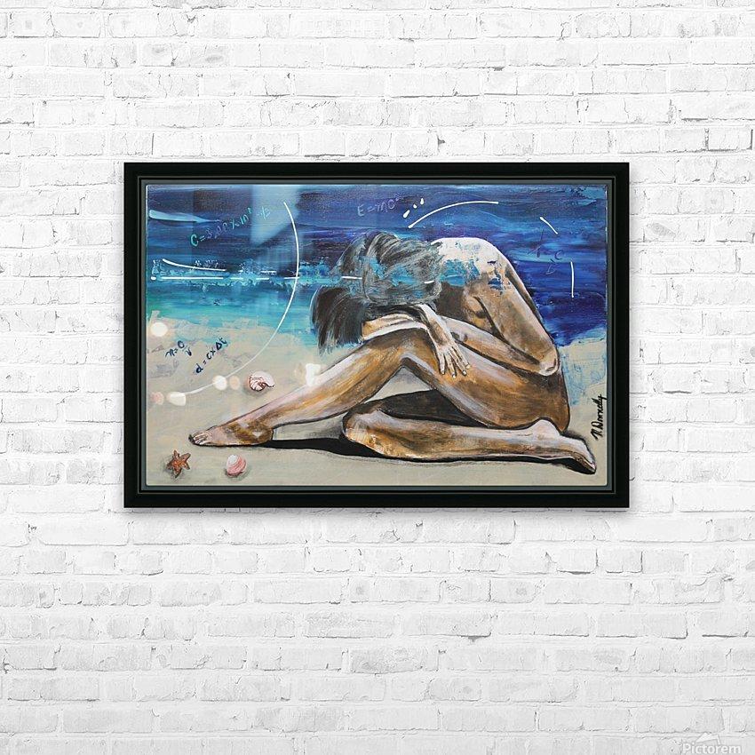 Mise à Nue HD Sublimation Metal print with Decorating Float Frame (BOX)