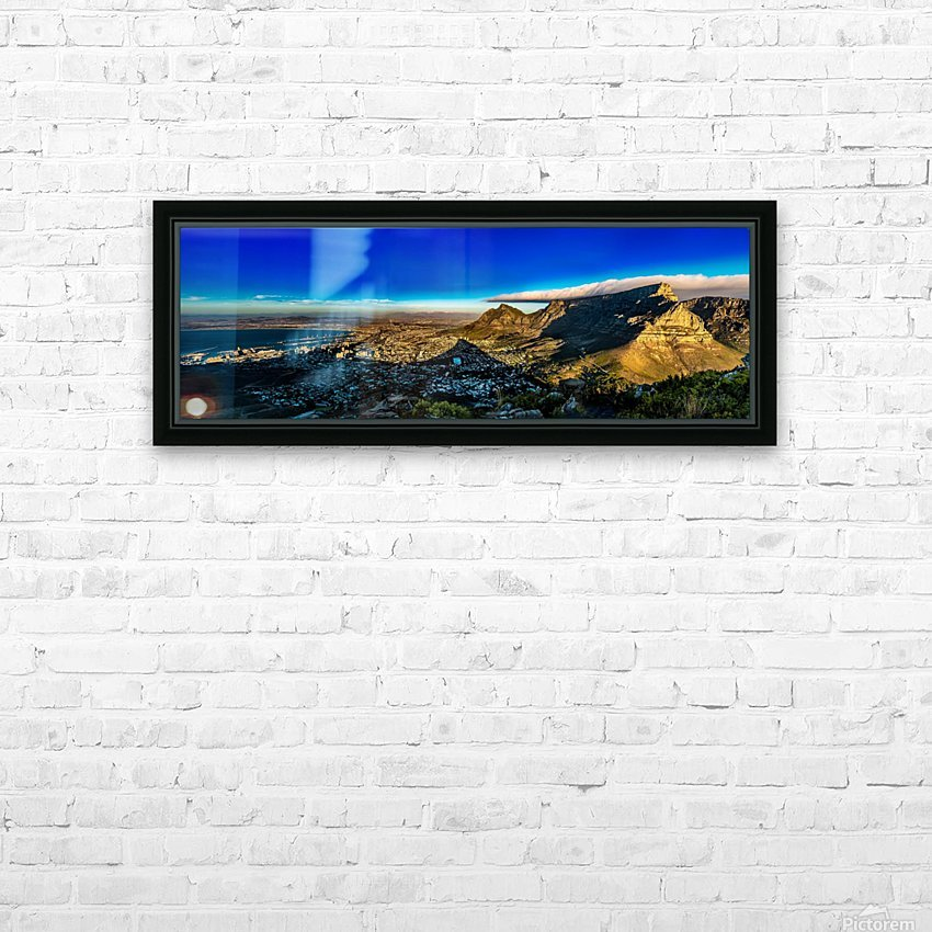 Cape Town's Table Mountain HD Sublimation Metal print with Decorating Float Frame (BOX)