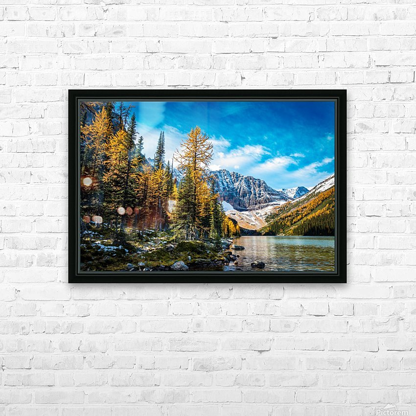 Taylor Lake, Alberta HD Sublimation Metal print with Decorating Float Frame (BOX)