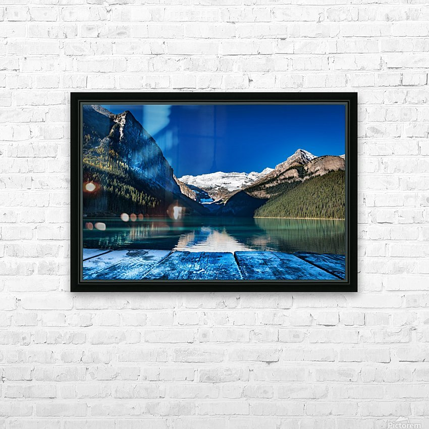 Lake Louise Dock HD Sublimation Metal print with Decorating Float Frame (BOX)