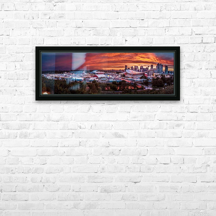 Calgary After the Storm - Fire in the Sky HD Sublimation Metal print with Decorating Float Frame (BOX)