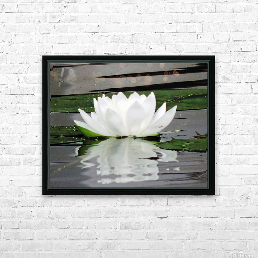 FloweringLilyPad HD Sublimation Metal print with Decorating Float Frame (BOX)