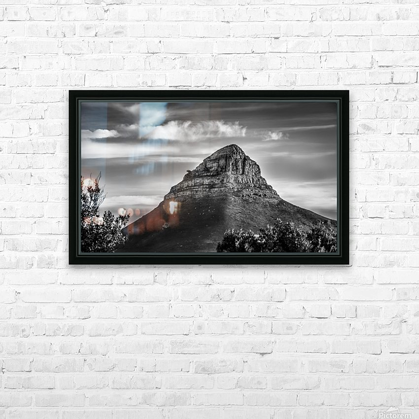 LionsHeadBW HD Sublimation Metal print with Decorating Float Frame (BOX)