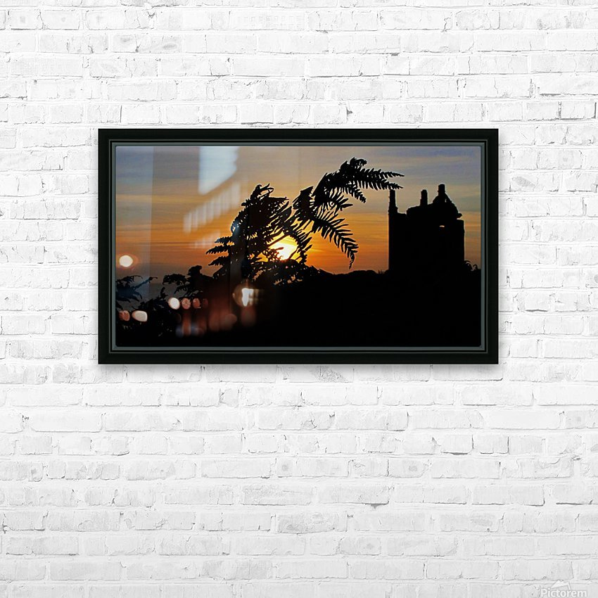 Fern castle sunset HD Sublimation Metal print with Decorating Float Frame (BOX)
