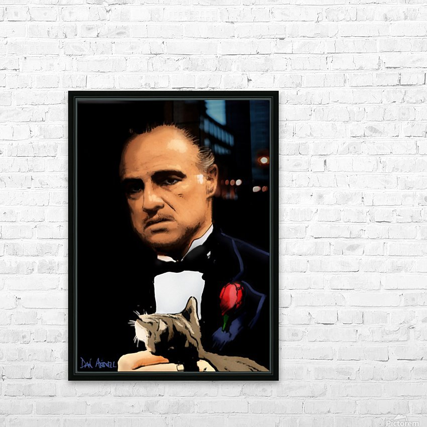 Marlon Brando - The Godfather HD Sublimation Metal print with Decorating Float Frame (BOX)
