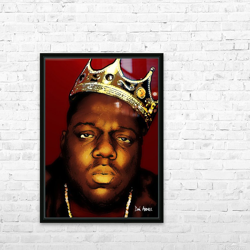 Biggie Smalls aka Notorious B.I.G HD Sublimation Metal print with Decorating Float Frame (BOX)