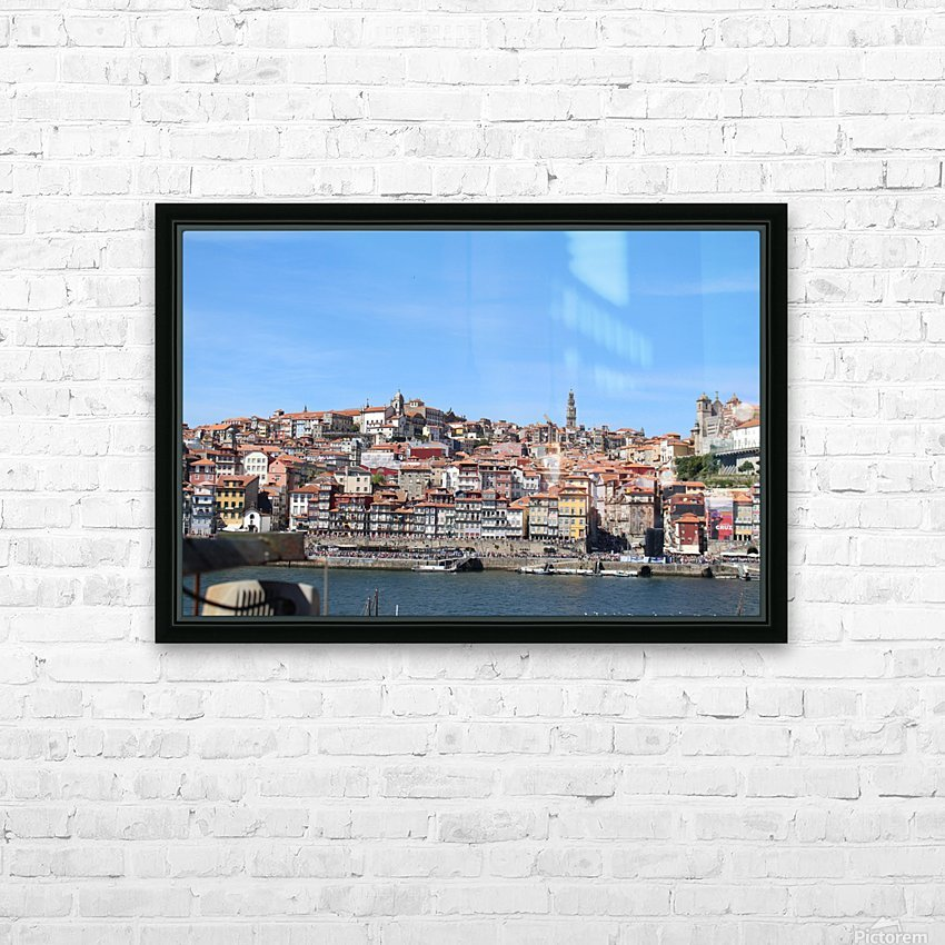 Oporto City at Douro River HD Sublimation Metal print with Decorating Float Frame (BOX)