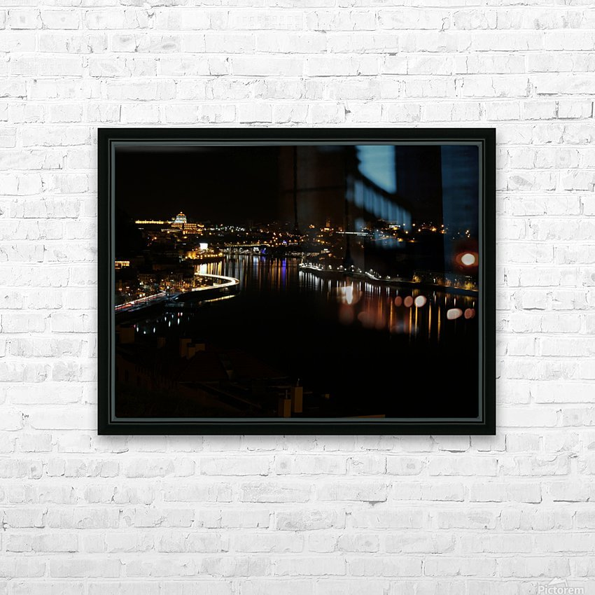 Oporto Night ligths HD Sublimation Metal print with Decorating Float Frame (BOX)