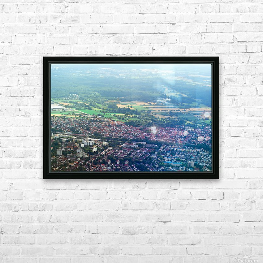 Airplain HD Sublimation Metal print with Decorating Float Frame (BOX)