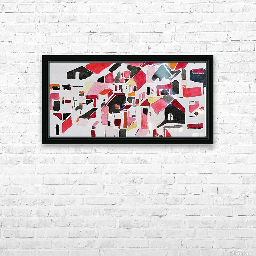My Postcode HD Sublimation Metal print with Decorating Float Frame (BOX)