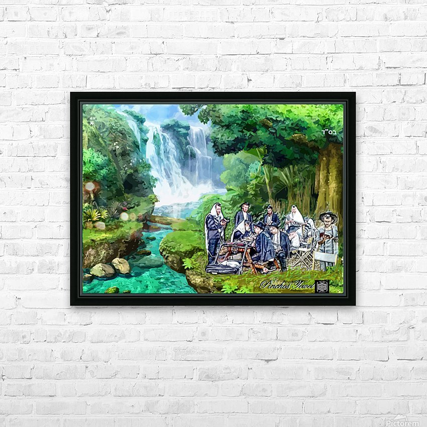 Praying with MINYAN HD Sublimation Metal print with Decorating Float Frame (BOX)