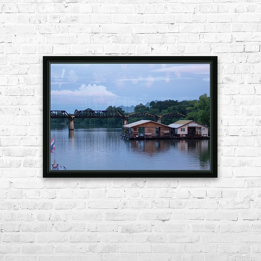 Boat trip on the river Kwai with sunset HD Sublimation Metal print with Decorating Float Frame (BOX)