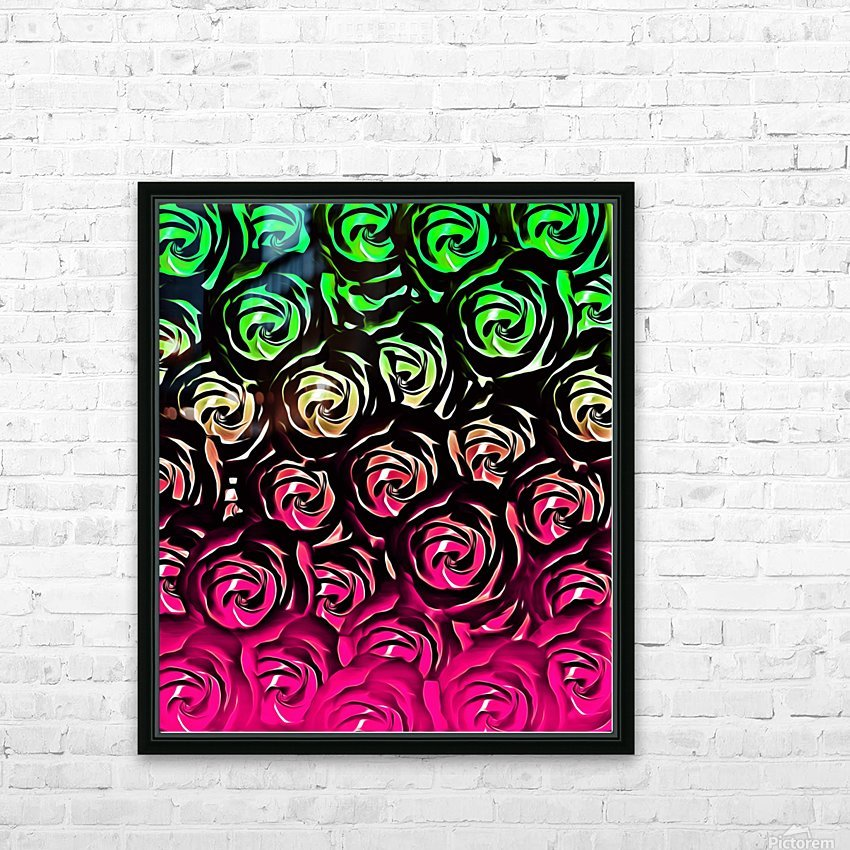 rose pattern texture abstract background in pink and green HD Sublimation Metal print with Decorating Float Frame (BOX)