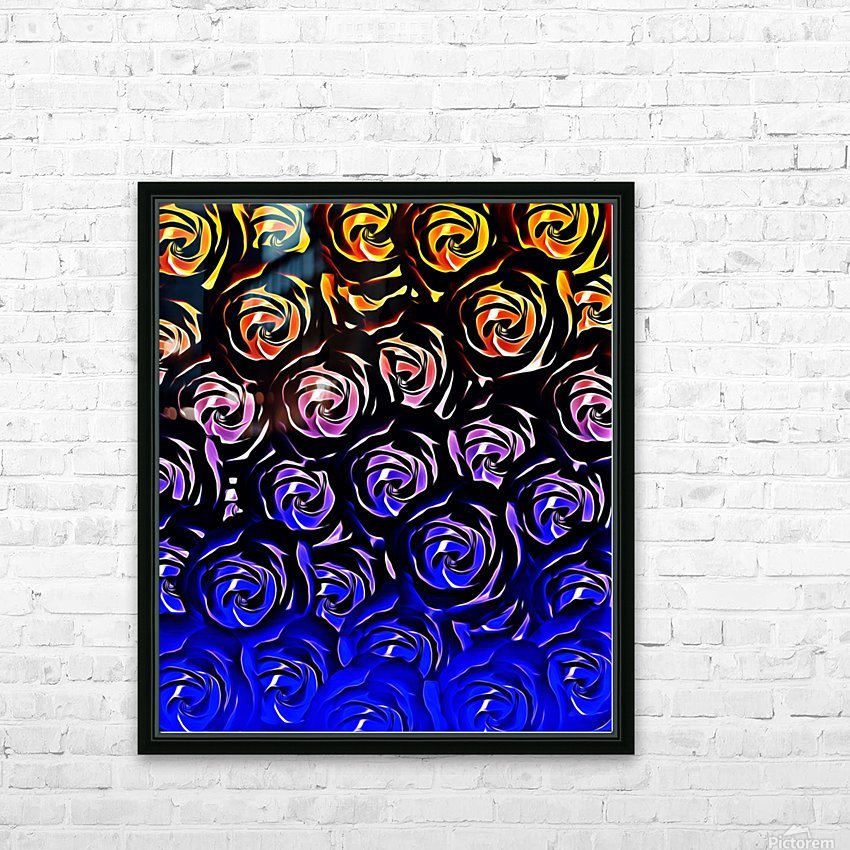 rose pattern texture abstract background in blue and red HD Sublimation Metal print with Decorating Float Frame (BOX)