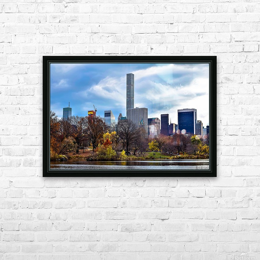 Autumn Central Park  HD Sublimation Metal print with Decorating Float Frame (BOX)