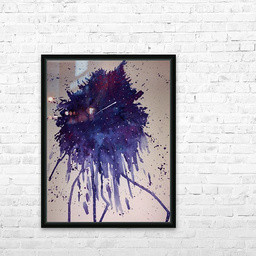 Space Splat HD Sublimation Metal print with Decorating Float Frame (BOX)