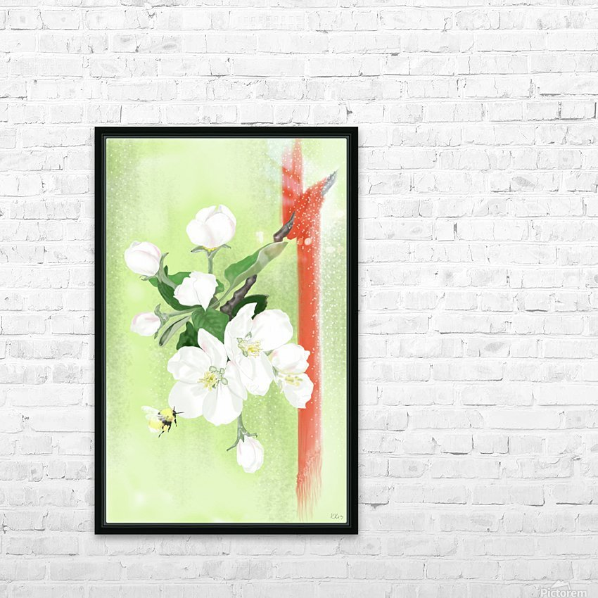 Apple tree HD Sublimation Metal print with Decorating Float Frame (BOX)