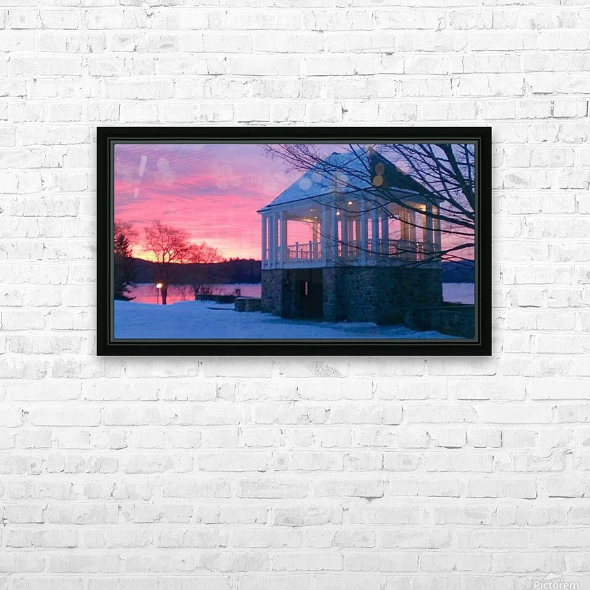 winter sunrise over the park HD Sublimation Metal print with Decorating Float Frame (BOX)