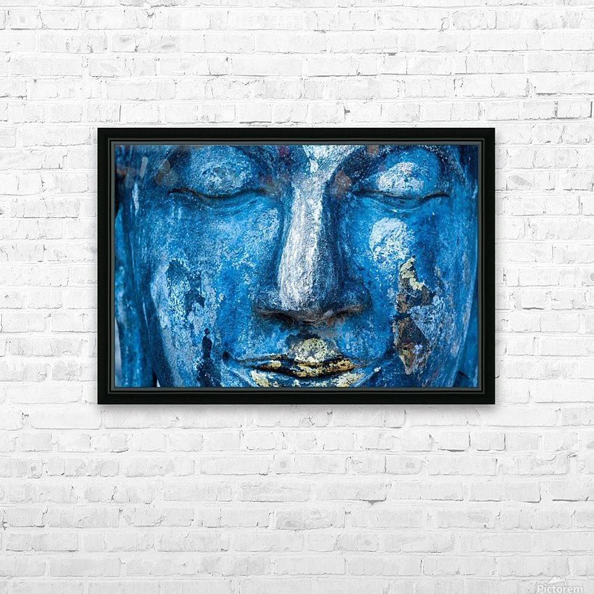 Buddha Face HD Sublimation Metal print with Decorating Float Frame (BOX)