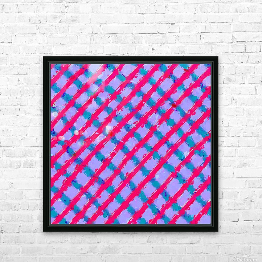 line pattern painting abstract background in red purple blue HD Sublimation Metal print with Decorating Float Frame (BOX)