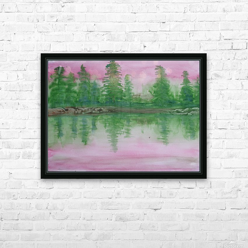 Reflections in the lake. HD Sublimation Metal print with Decorating Float Frame (BOX)