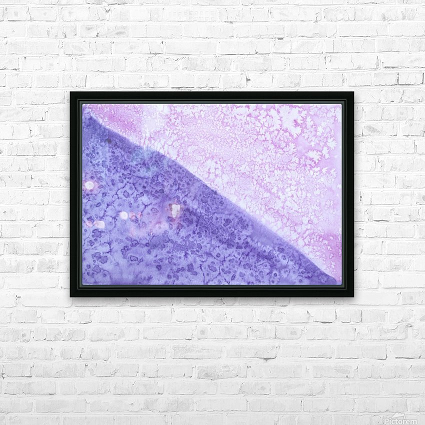 Magenta and Violet Rain. HD Sublimation Metal print with Decorating Float Frame (BOX)