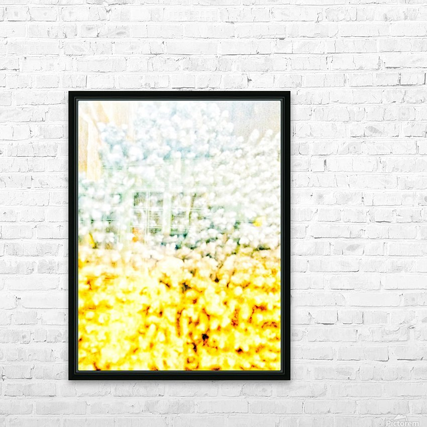 BURST - YELLOW & WHITE HD Sublimation Metal print with Decorating Float Frame (BOX)