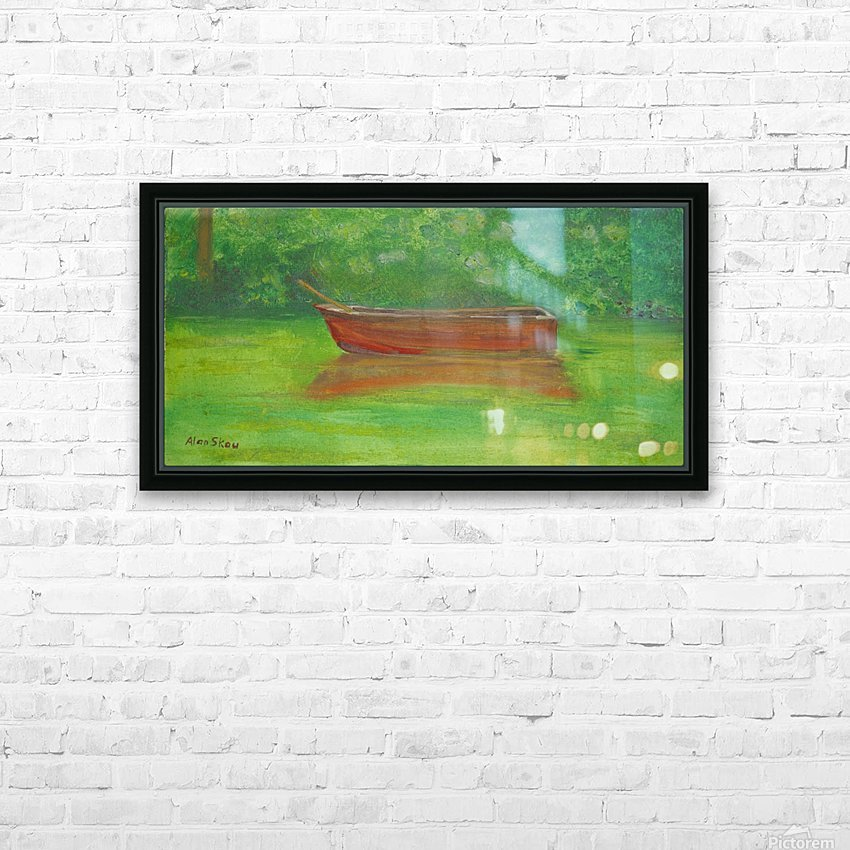 Rowboat drifting. HD Sublimation Metal print with Decorating Float Frame (BOX)