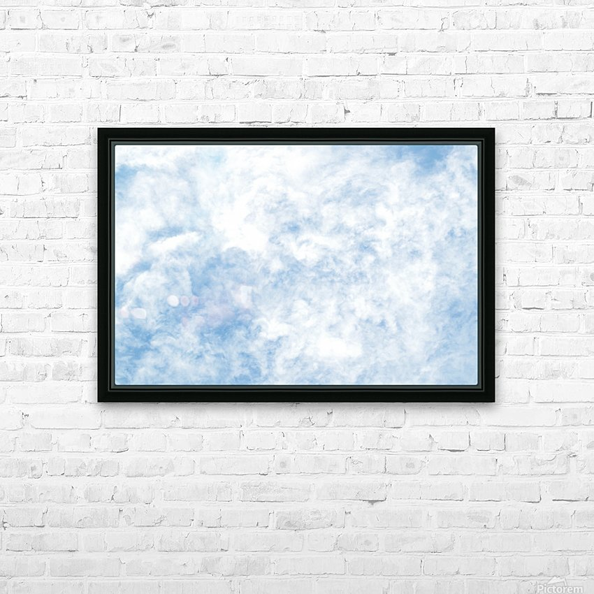 Wispy White Cloud. HD Sublimation Metal print with Decorating Float Frame (BOX)