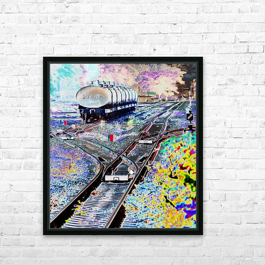 Tanker Wagons. HD Sublimation Metal print with Decorating Float Frame (BOX)