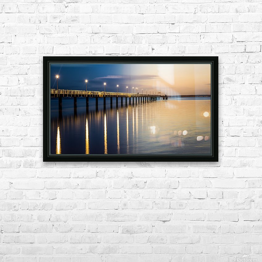 Sea Day2Night HD Sublimation Metal print with Decorating Float Frame (BOX)