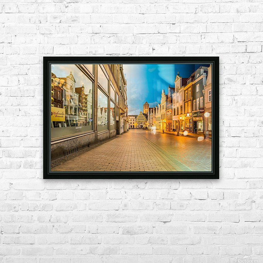 Wismar Day2Night HD Sublimation Metal print with Decorating Float Frame (BOX)
