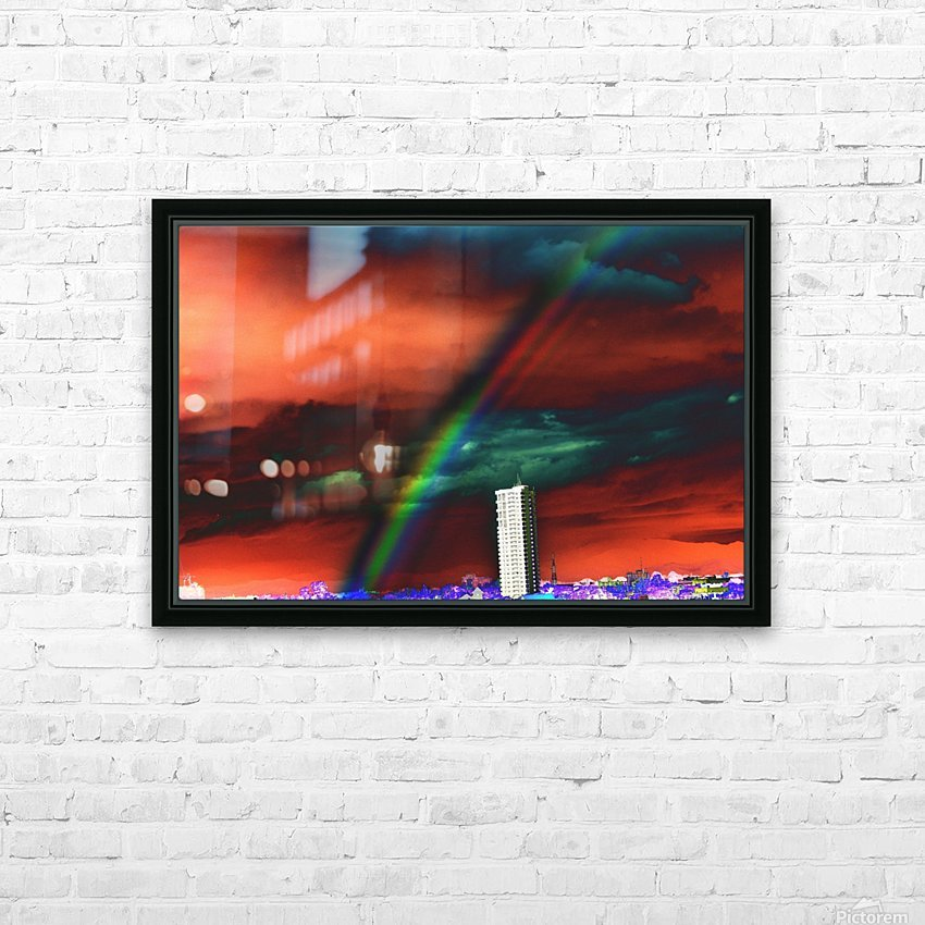 Rainbow. HD Sublimation Metal print with Decorating Float Frame (BOX)