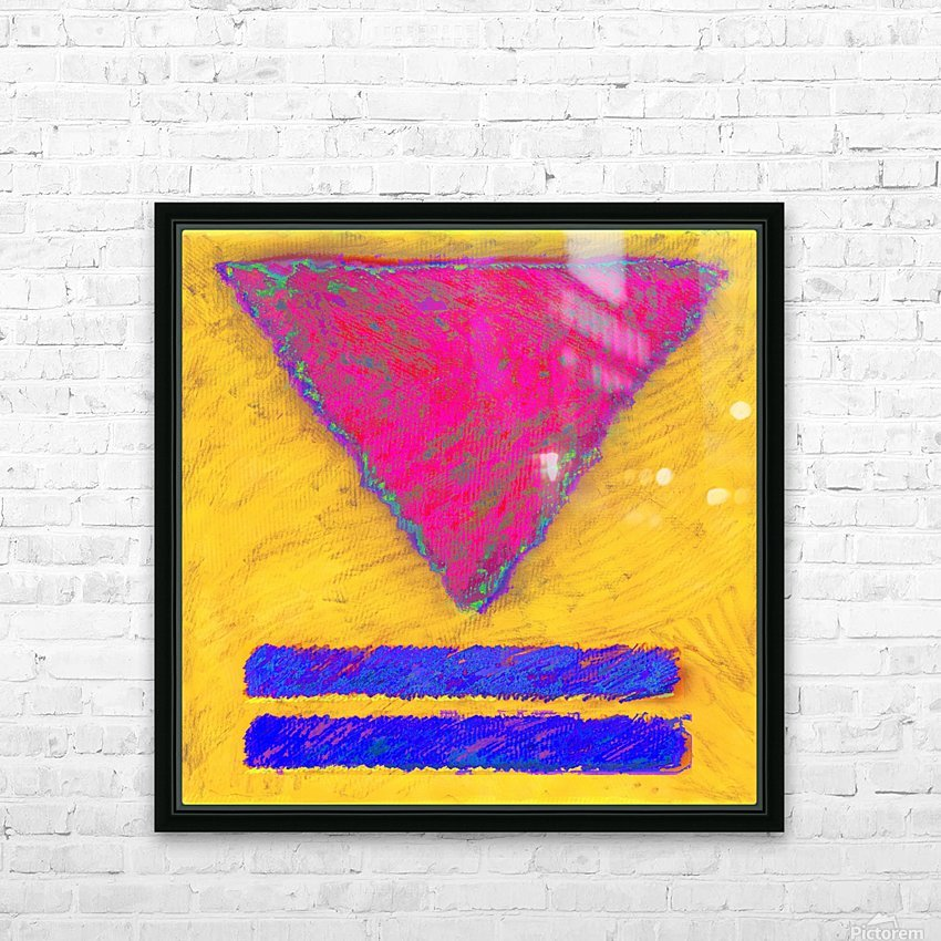 INVERTED PINK TRIANGLE HD Sublimation Metal print with Decorating Float Frame (BOX)