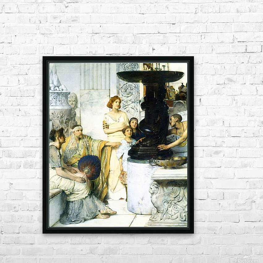 The Sculpture Gallery detail by Alma-Tadema HD Sublimation Metal print with Decorating Float Frame (BOX)