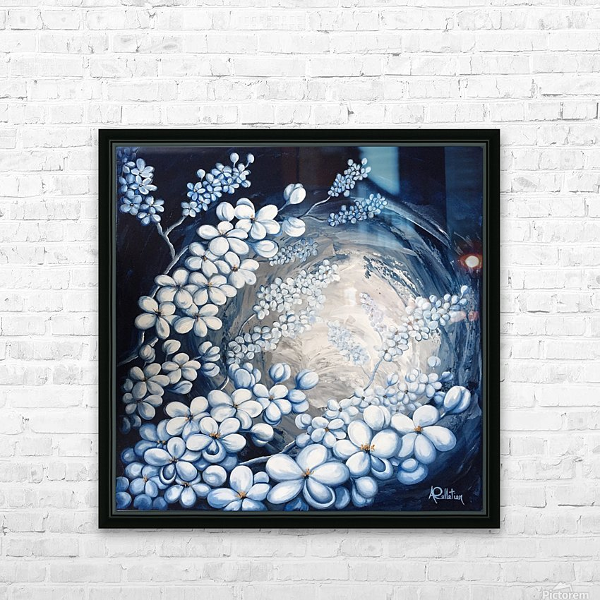 MidnightBlossoms HD Sublimation Metal print with Decorating Float Frame (BOX)