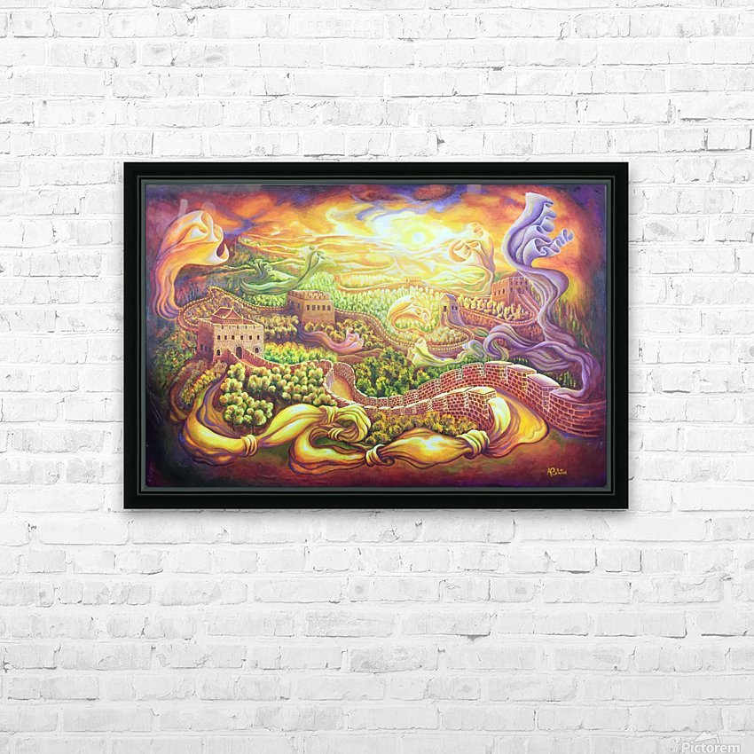 The dragons of the Great Wall HD Sublimation Metal print with Decorating Float Frame (BOX)