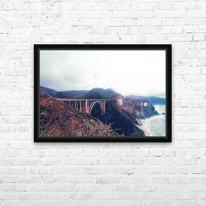 beautiful landscape at Bixby bridge, Big Sur, California, USA  HD Sublimation Metal print with Decorating Float Frame (BOX)