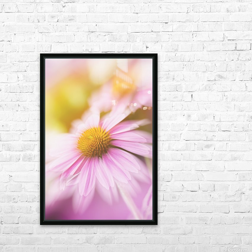 Dreamy Pink Coneflower  HD Sublimation Metal print with Decorating Float Frame (BOX)