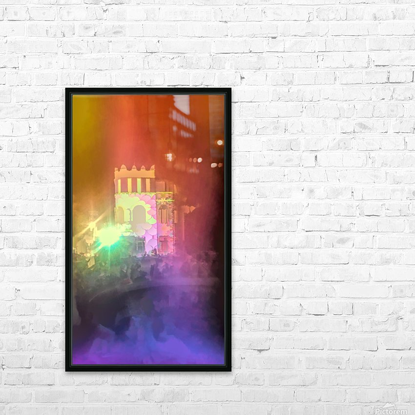 Festival Lights and Fire 2 HD Sublimation Metal print with Decorating Float Frame (BOX)