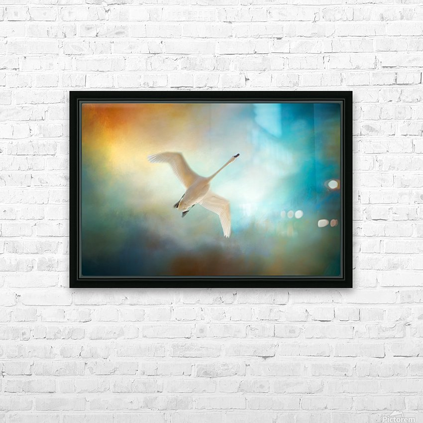 Swan Wings HD Sublimation Metal print with Decorating Float Frame (BOX)