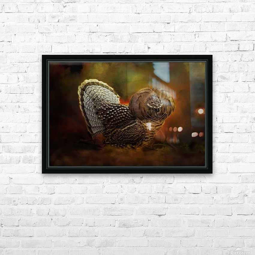 Ruffed Up HD Sublimation Metal print with Decorating Float Frame (BOX)