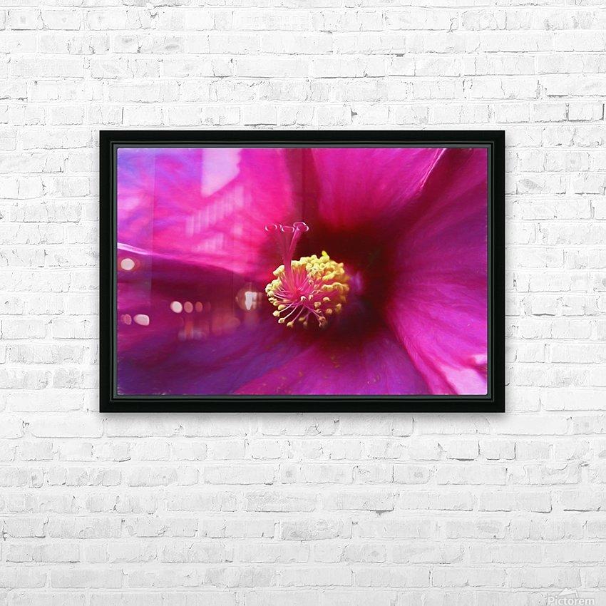 Pistil wave HD Sublimation Metal print with Decorating Float Frame (BOX)