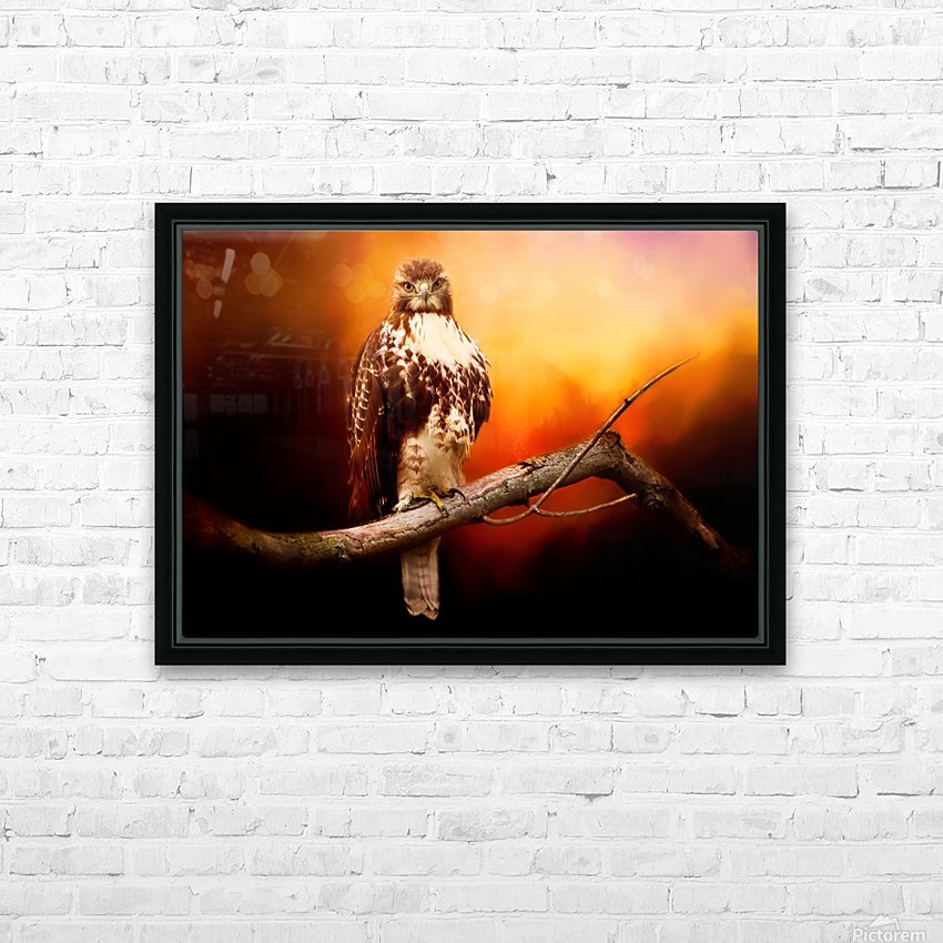 Red Threat HD Sublimation Metal print with Decorating Float Frame (BOX)