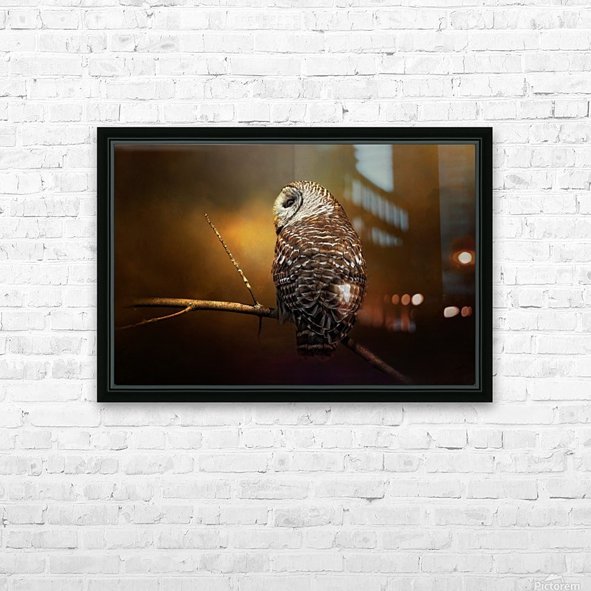 Textured Strix Varia HD Sublimation Metal print with Decorating Float Frame (BOX)