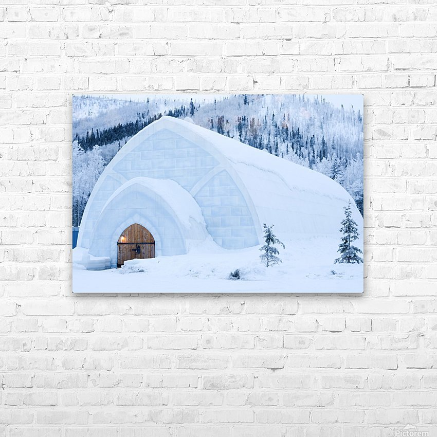 THE WINTER BARN HD Sublimation Metal print with Decorating Float Frame (BOX)