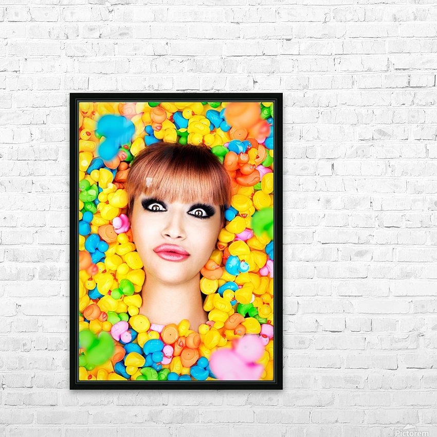 Duckfaceicon HD Sublimation Metal print with Decorating Float Frame (BOX)