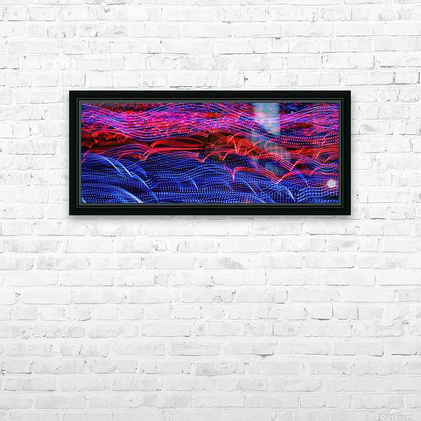 lights abstract curves long exposure HD Sublimation Metal print with Decorating Float Frame (BOX)