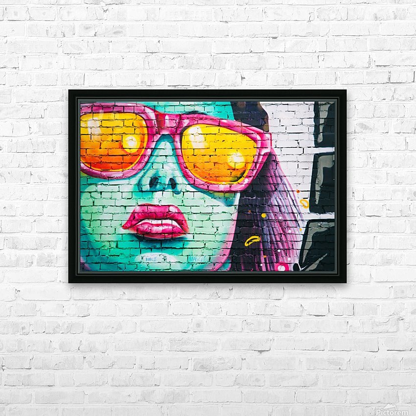graffiti wall HD Sublimation Metal print with Decorating Float Frame (BOX)