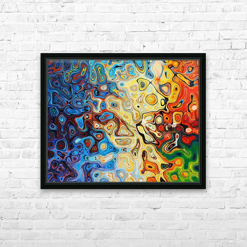 background HD Sublimation Metal print with Decorating Float Frame (BOX)